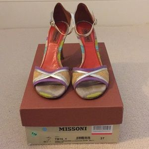 Missoni Heels with Ankle Strap